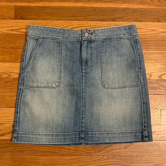 84b9229711 LOFT Skirts | Ann Taylor Denim Skirt Size 8 | Poshmark